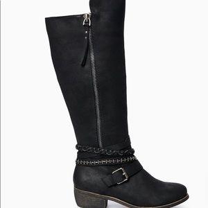 SO Women's Tall Black Boots Sz 7 NWOB